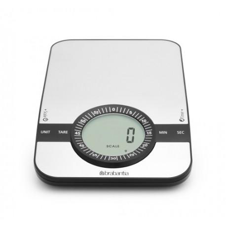 Brabantia bilancia da cucina digitale 1gr 5kg rettangolare - Timer da cucina ...