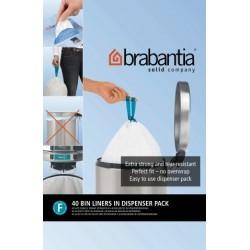 Bin Liner F dispenser da 40 sacchetti rifiuti 20L SlimLine Bianco 375644