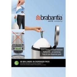 Bin Liner G dispenser da 40 sacchetti rifiuti 23/30L Bianco 375668