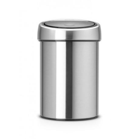 Pattumiera Touch Bin 3L, anti-impronte Inox Satinato FPP 378645