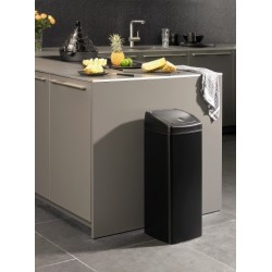 Pattumiera Touch Bin 25L Rectangular Nero Opaco 415906