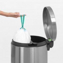 Pedal Bin Recycle Silent 2 x 20 litri, anti-impronte Inox Satinato FPP