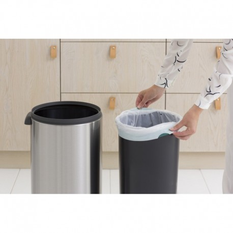 Touch Bin New 30L, anti-impronte Inox Satinato FPP