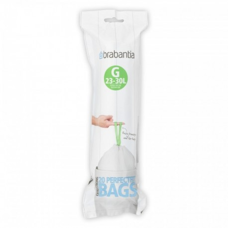 PerfectFit Bags G, 23-30L [rotolo 20 sacchetti] Bianco
