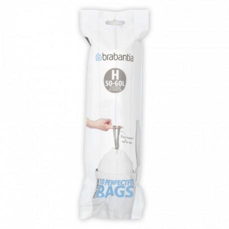 PerfectFit Bags H, 50-60L [rotolo 10 sacchetti] Bianco