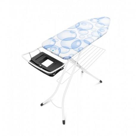 PerfectFlow 124x45 - Portacaldaia Richiudibile, cestello, telaio Bianco Bubbles