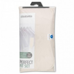 Perfect Fit Set 124 x 45 cm. spugna 4 mm + mollettone 4 mm Ecru