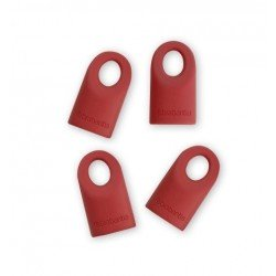 Set of 4 cappucci di ricambio in silicone Red Accent 464003