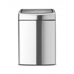 Pattumiera Touch Bin 10L Rectangular, anti-impronte Inox Satinato FPP 477225