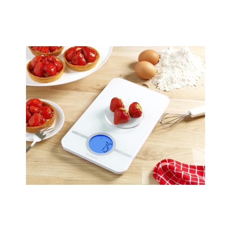 Brabantia bilancia da cucina digitale 1gr 5kg essential bianco 4805 - Bilancia da cucina digitale ...