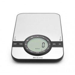 Bilancia da cucina digitale 1gr/5kg, rettangolare con Timer cucina Inox Satinato 480607