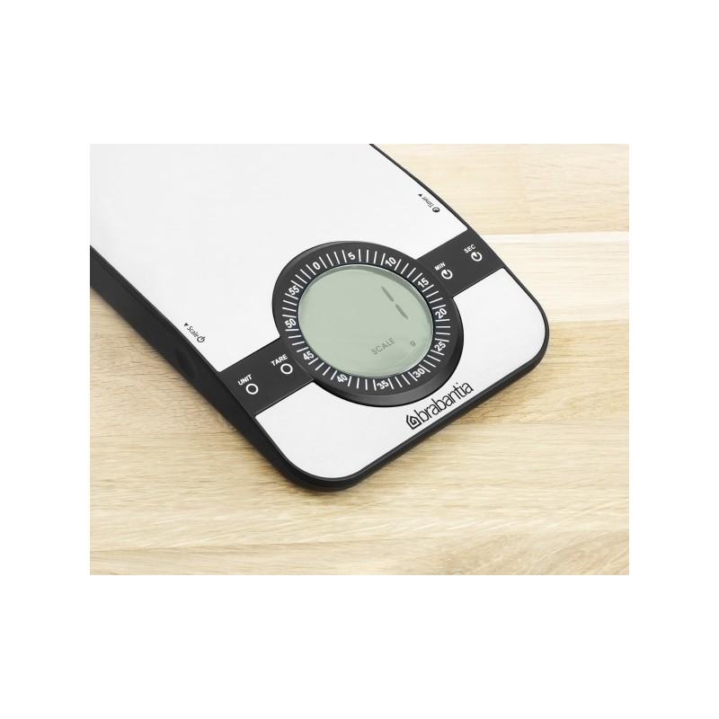 Brabantia bilancia da cucina digitale 1gr 5kg rettangolare con tim - Timer da cucina ...