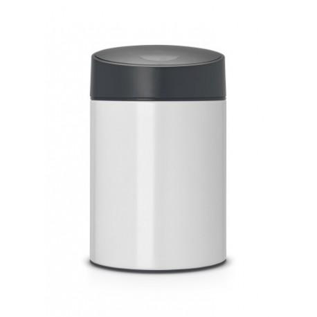 Slide Bin 5L cop. in plastica Nero Pure White 483165