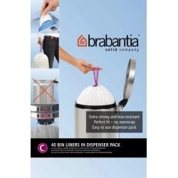 Bin Liner C dispenser da 40 sacchetti rifiuti 10/12L Bianco 361982