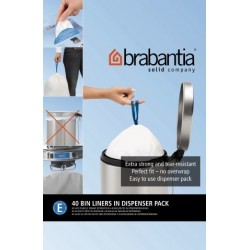 Bin Liner E dispenser da 40 sacchetti rifiuti 20L Bianco 362002
