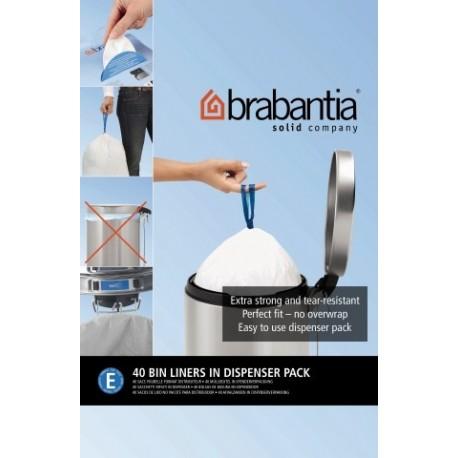 Bin Liner E dispenser da 40 sacchetti rifiuti 20L Bianco