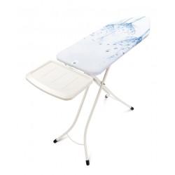 Tavolo da stiro XL Comfort 124x45 - Portacaldaia Solid, telaio 25mm Bianco Cotton Flower 108884