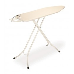 Tavolo da stiro Comfort 124x38 - Poggiaferro Classic, telaio 22mm Bianco Ecru 347764