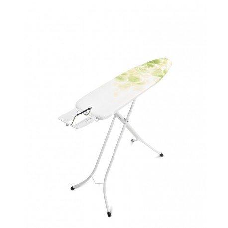 Tavolo da stiro Compact 110x30 - Poggiaferro Classic, telaio 22mm Bianco Leaf Clover 111143