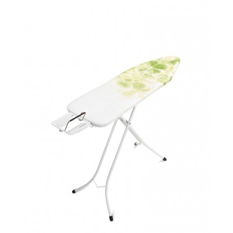Tavolo da stiro Comfort 124x38 - Poggiaferro Classic, telaio 22mm Bianco Leaf Clover 111167