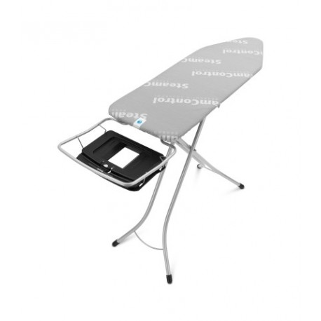 Tavolo da stiro con Portacaldaia Richiudibile, 124x45, telaio 25mm Metallic Grey AquaB 220944
