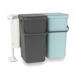 Sort & Go 2 x 16L Mint & Dark Grey 110023