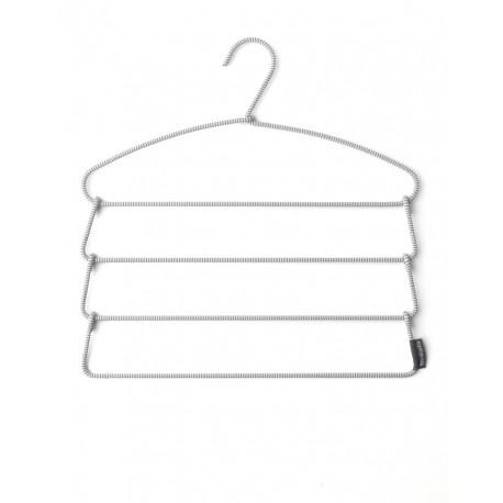 Soft Touch Trousers Hangers - gruccia a 4 barre rivestite in tessuto anti-scivolo Grey 110764