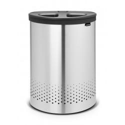 Laundry Bin Selector 55L cop. in plastica Dark Grey Inox Satinato 105029