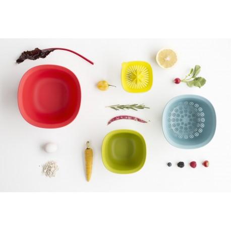 Set Mixing Bowl - Ciotola 1,5L, 3,2L, Scolapasta, Spremiagrumi Assortiti 110047