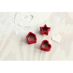 Set 3 formine per biscotti Red 105227