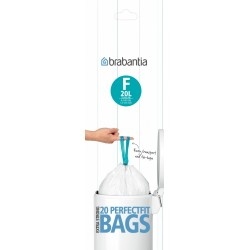 PerfectFit Bags F, 20L, Slimline [rotolo 20 sacchetti] Bianco 245305