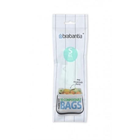 Compostable PerfectFit Bags S, 6L [rotolo 10 sacchetti] Verde 419683
