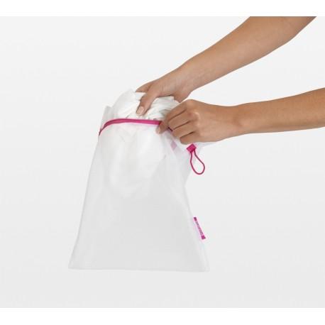 Set 3 Wash bags - 2 x Small (33x25 cm) 1 x Large (45x33 cm) sacche per delicati Bianco 105388