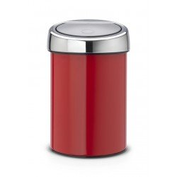 Touch Bin 3L cop. Inox Lucido Passion Red 364426