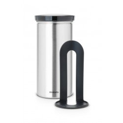 Coffee & Tea Pad Canister cop. Grey, anti-impronte Inox Satinato FPP 476228