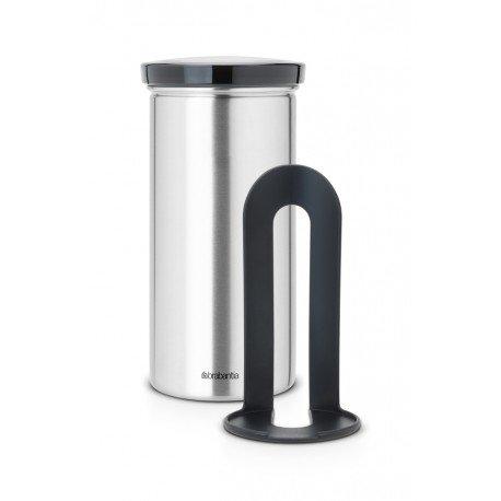 Coffee & Tea Pad Canister cop. Grey, anti-impronte Inox Satinato FPP 476228