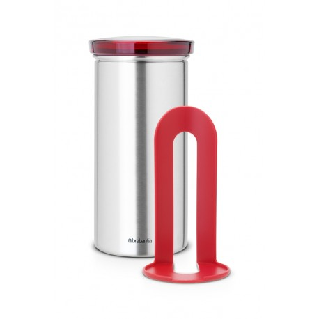 Coffee & Tea Pad Canister cop. Red, anti-impronte Inox Satinato FPP 476181