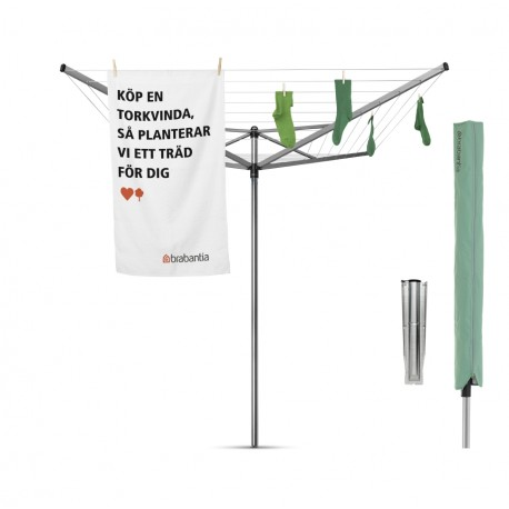 Topspinner 50 metri - tubo fissaggio zincato, capottina Metallic Grey 310829