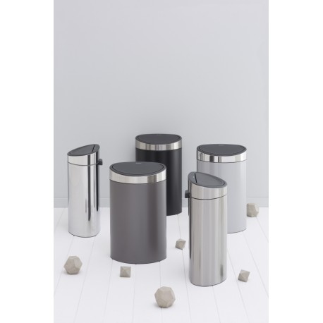 Touch Bin Next 40L cop. Inox Lucido Metallic Grey 114861