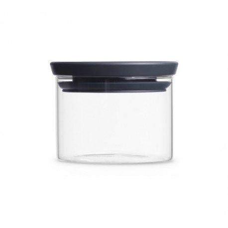 Barattolo Stackable Glass Jar 0.3L in vetro, cop. Dark Grey Trasparente 298301