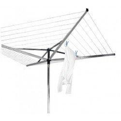 StendiOmbrello Compact 50 metri 4 bracci, tubo fissaggio in plastica Silver 310683