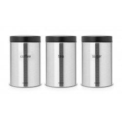 Set 3 Canister 1.4L cm. Tea, Coffee, Sugar Inox Satinato FPP 314926