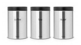 Set 3 Canister 1.4L cm. Tea, Coffee, Sugar Inox Satinato FPP 314926