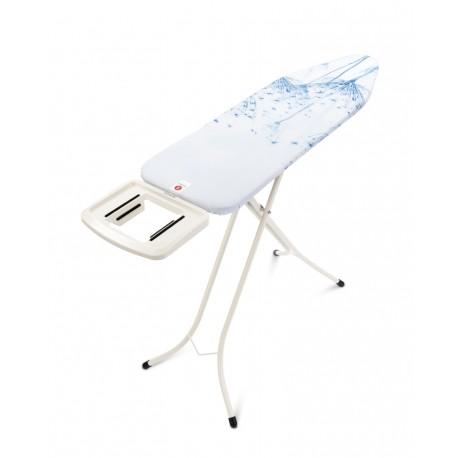 Comfort 124x38 - Poggiaferro Solid, telaio 22mm Bianco Cotton Flower 108822