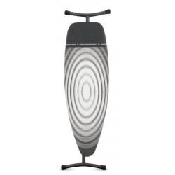 Tavolo da stiro con Poggiaferro fodera-termica, 135x45, telaio 35mm Nero Titan Oval 345647