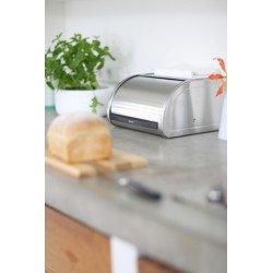 Portapane Roll Top Bread Bin apertura a scomparsa Inox Satinato 348921