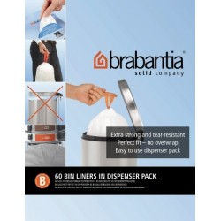 Bin Liner B dispenser da 60 sacchetti rifiuti 5L Bianco 348969